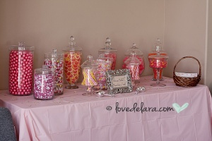 Baby Shower Candy Bar for girl