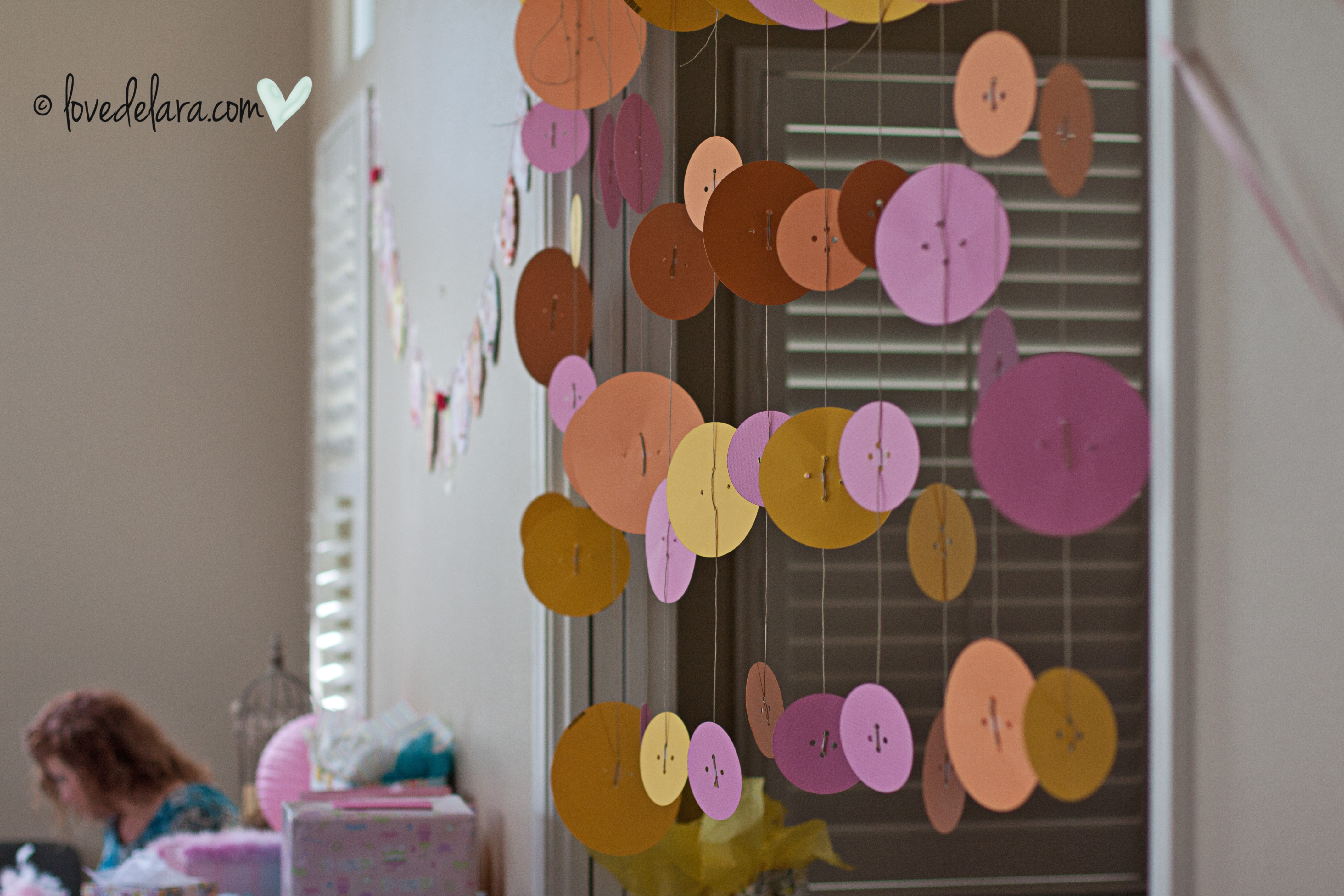 Button Streamers For Cute As A Button Shower