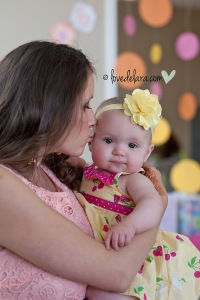 Auntie & niece shot - Cute as a Button theme